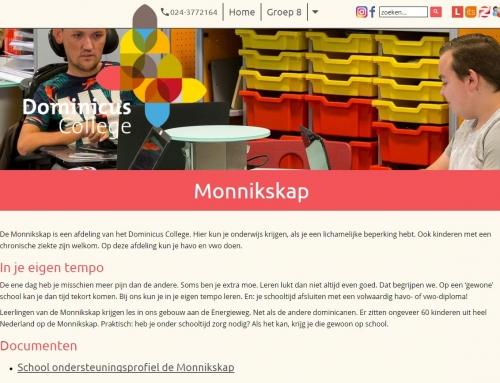 Nieuwbouw / uitbreiding Dominicus College waarin gevestigd: sporthal en school De Monnikskap te Nijmegen